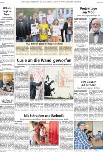 Projektzeitung 2015 #1
