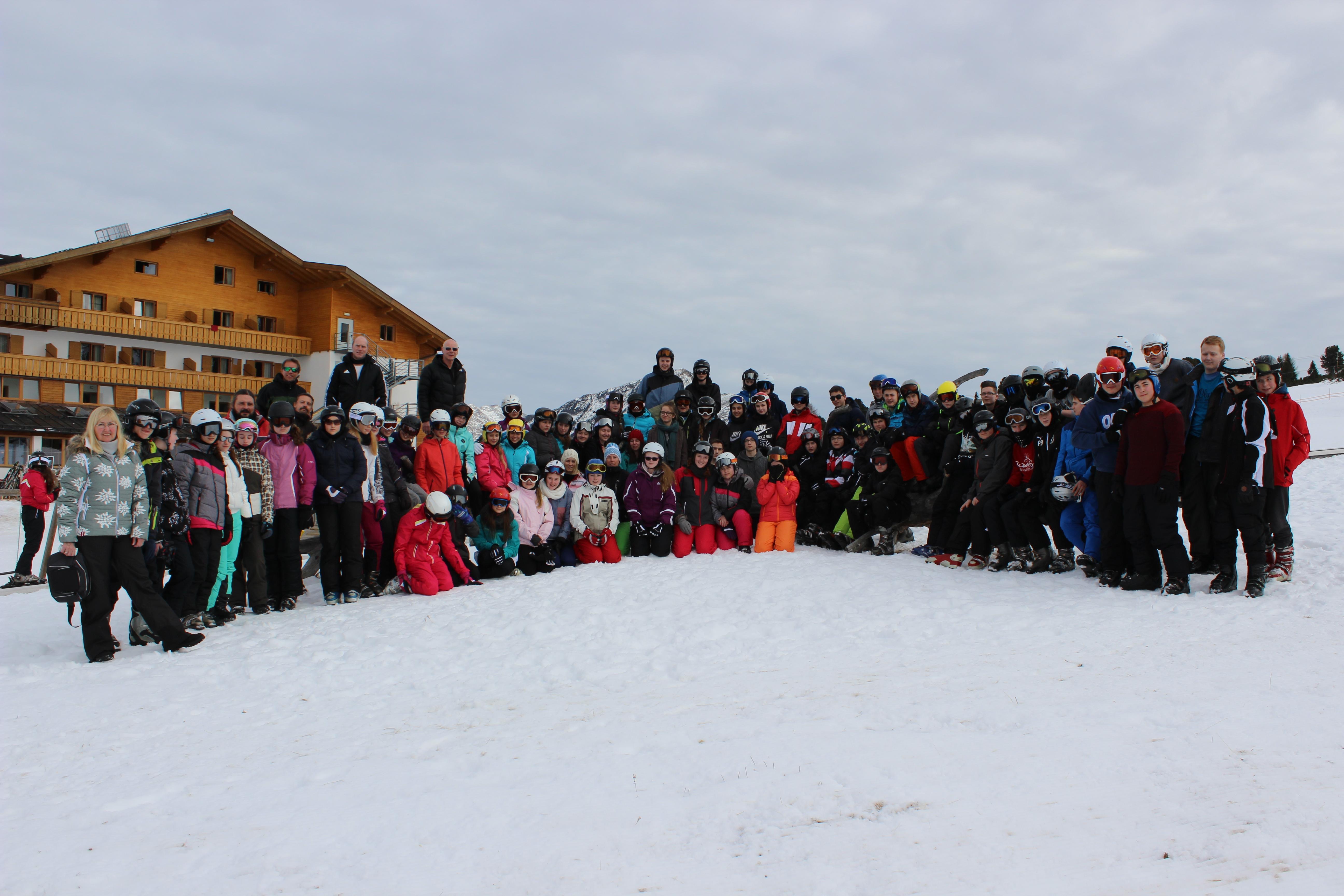 Schneesportunterricht in den Dolomiten