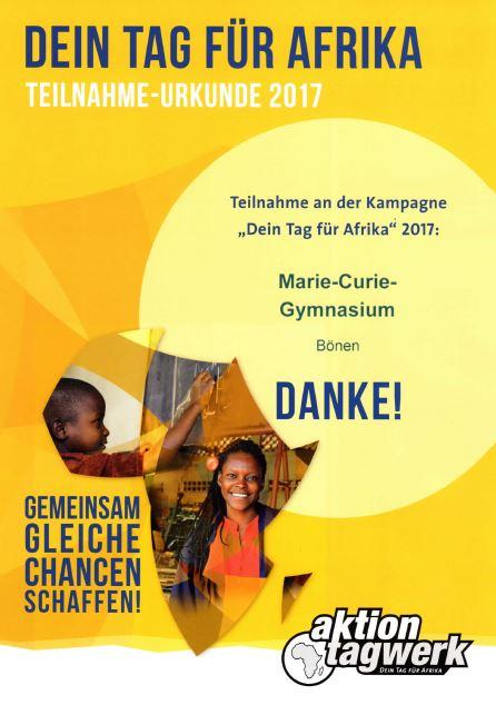 MCG-Schüler engagieren sich für Afrika