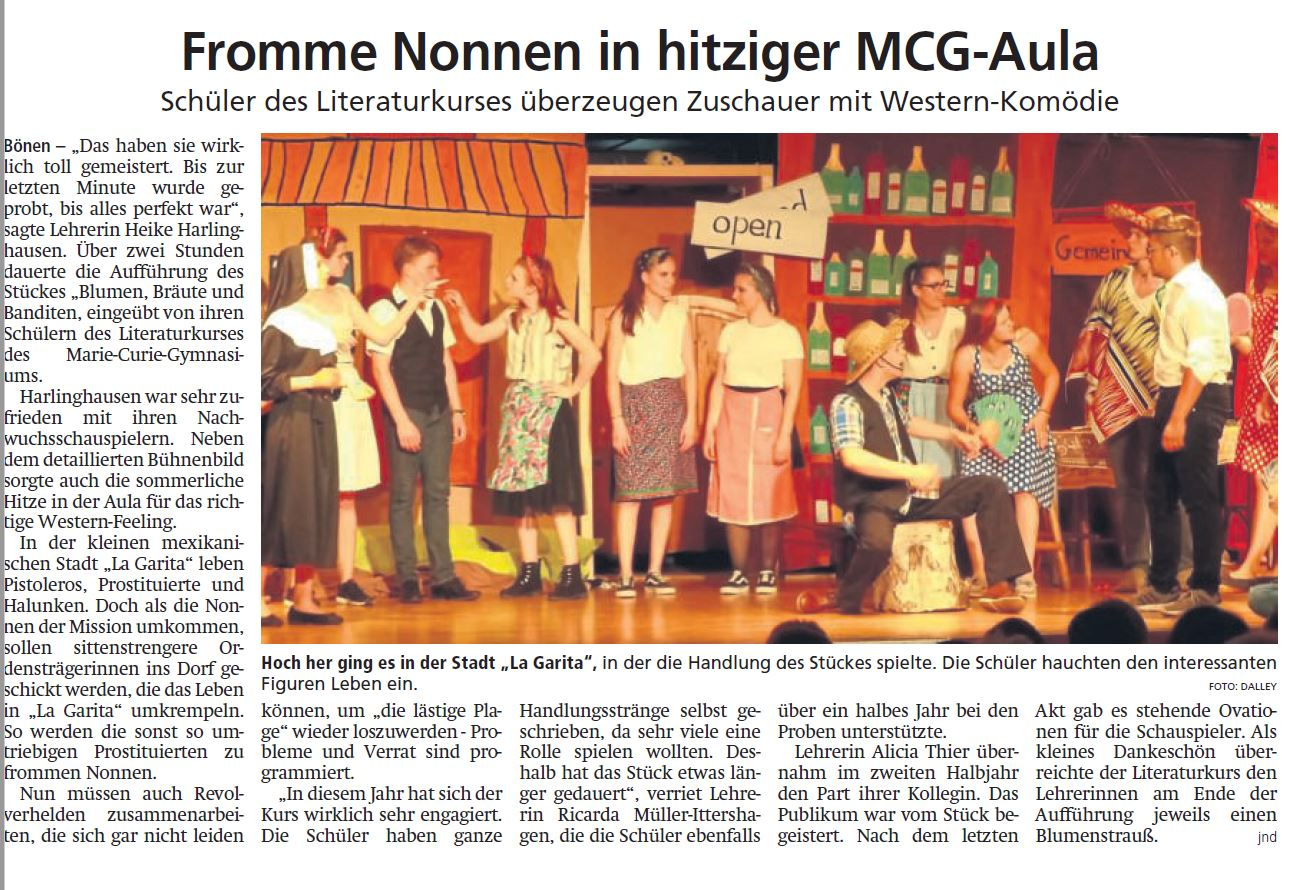 Fromme Nonnen in hitziger MCG-Aula