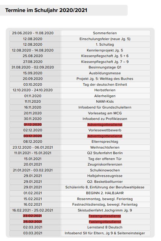 Terminplan Schuljahr 2020 2021-Teil 1