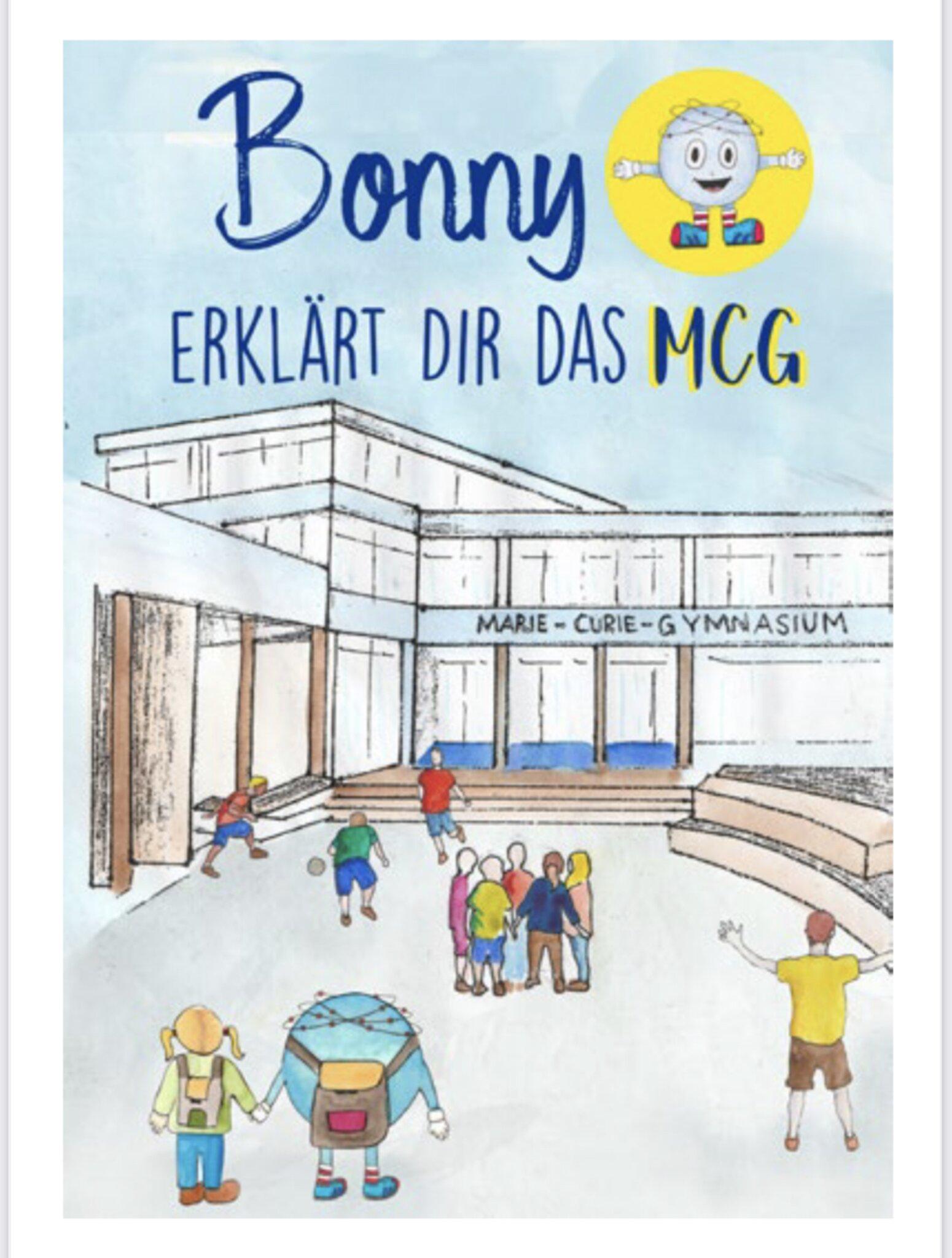 Zweite Auflage der Kinderbroschüre des MCG erschienen: Maskottchen Bonny erklärt Grundschülern das Gymnasium