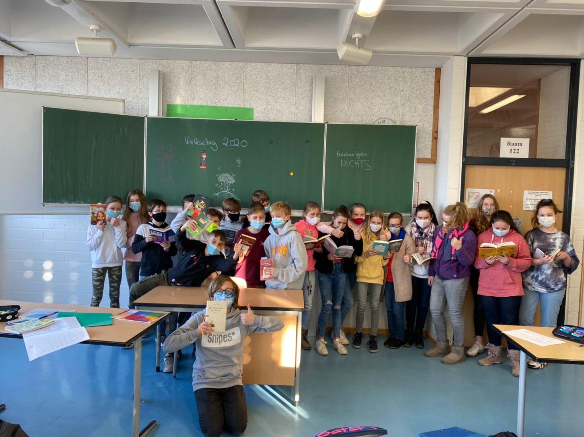 Deutschprojekt am Marie-Curie-Gymnasium: Vorlesetag 2020