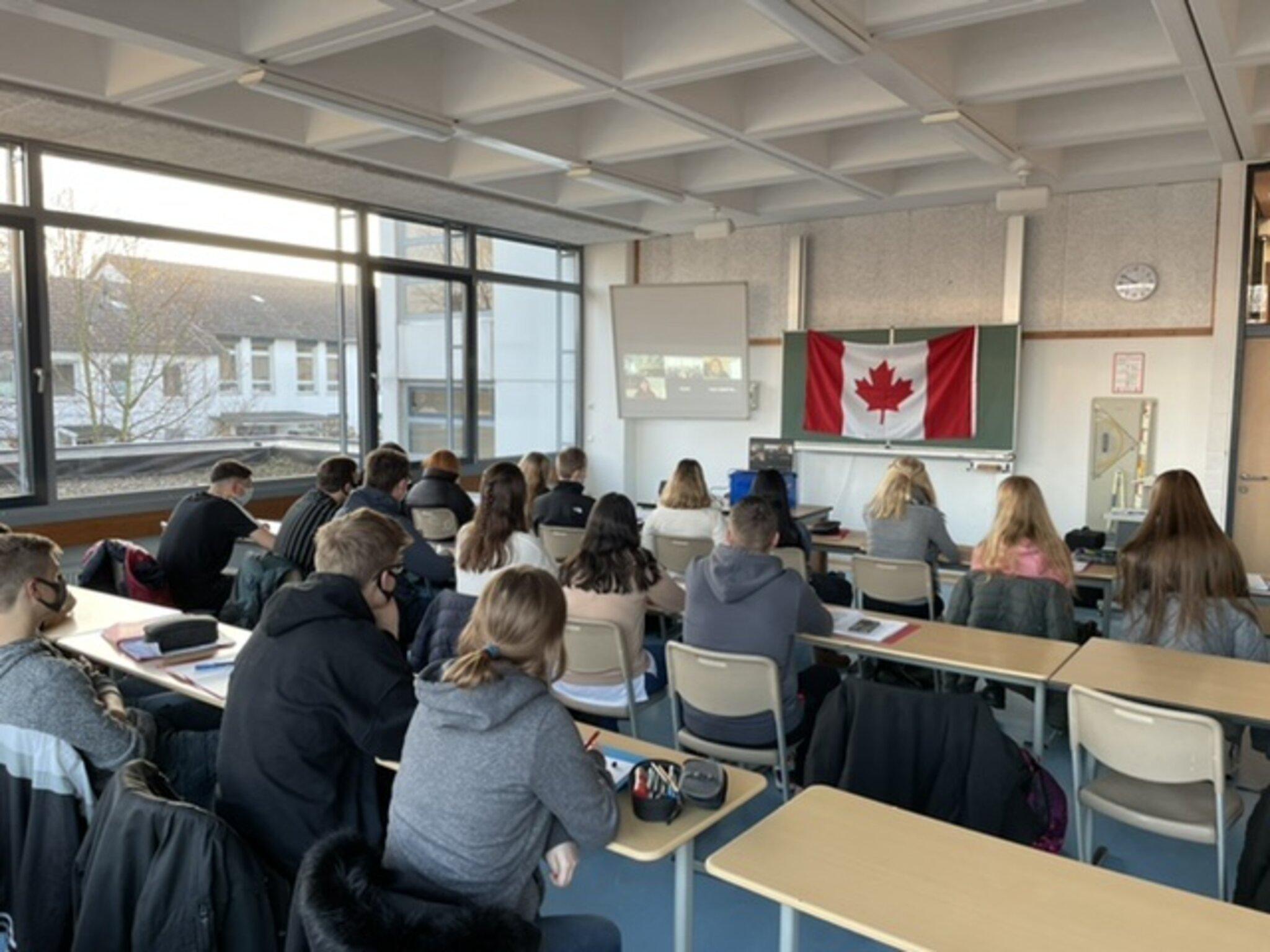 Digitaler Unterricht am Marie-Curie-Gymnasium Bönen: Videokonferenz mit Kanada