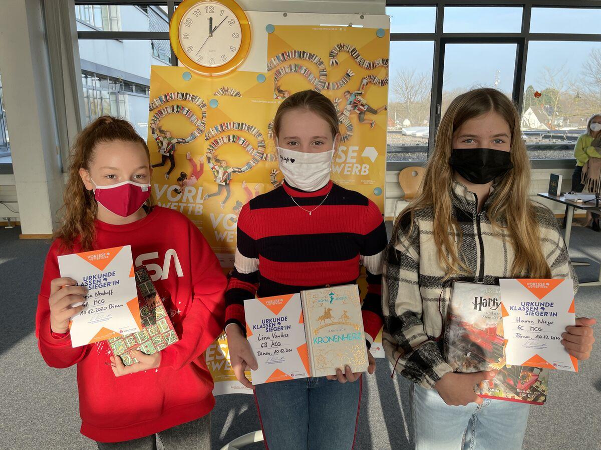 Vorlesewettbewerb 2020 am Marie-Curie-Gymnasium Bönen: Neue Welten entdecken