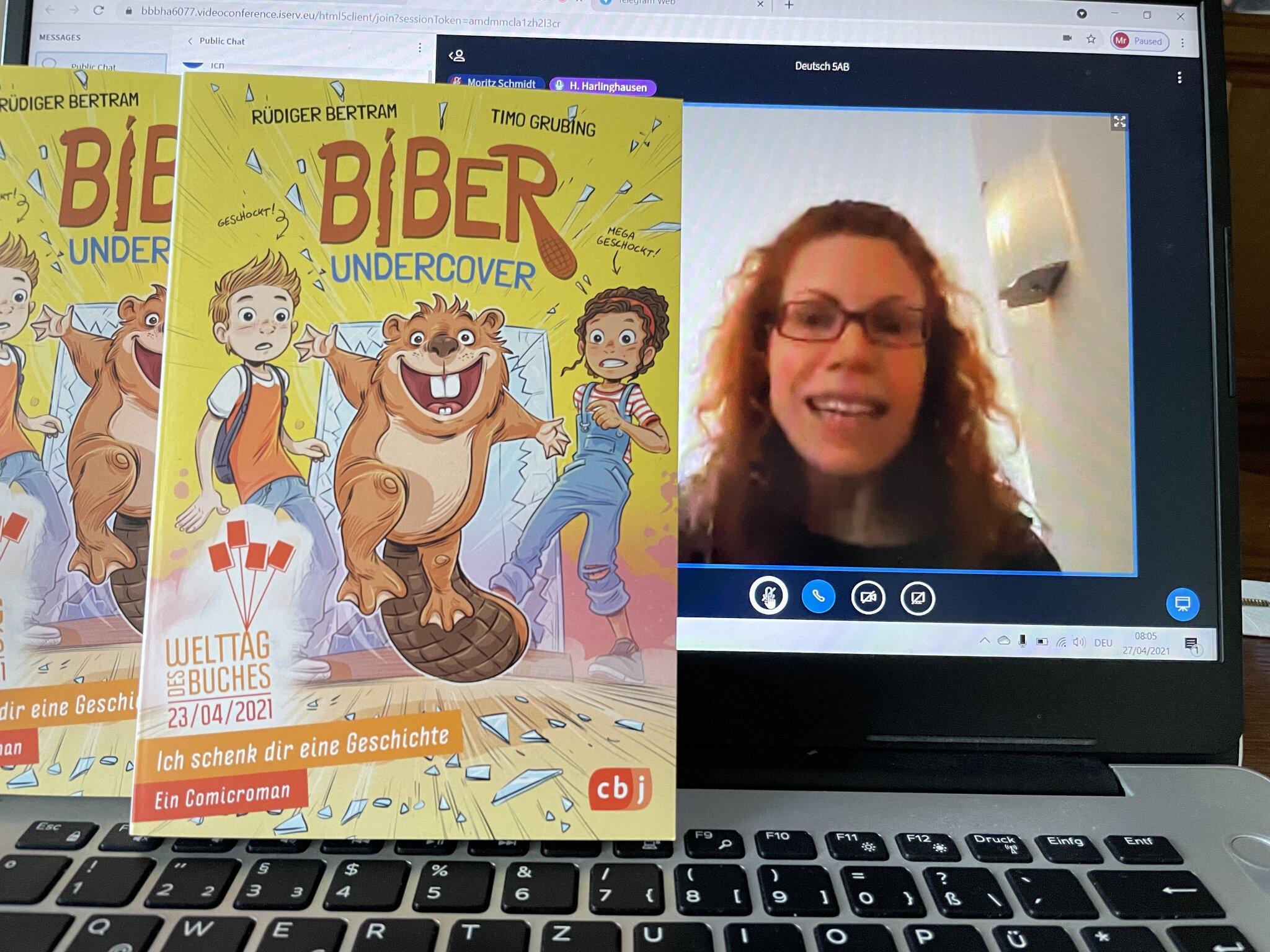 Leseförderung am Marie-Curie-Gymnasium: Digitaler Welttag des Buches 2021